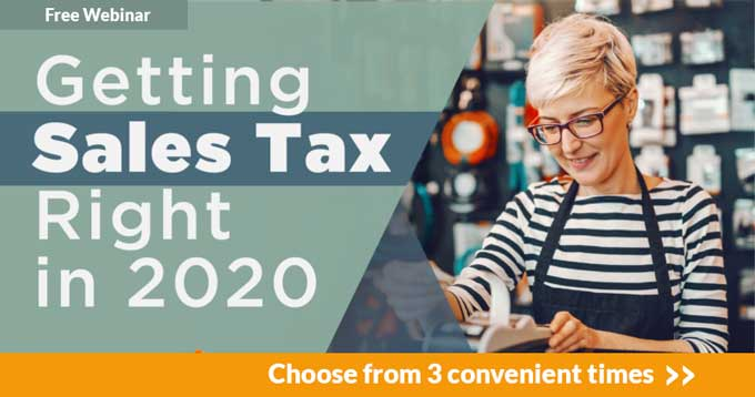 Getting Sales Tax Right in 2020