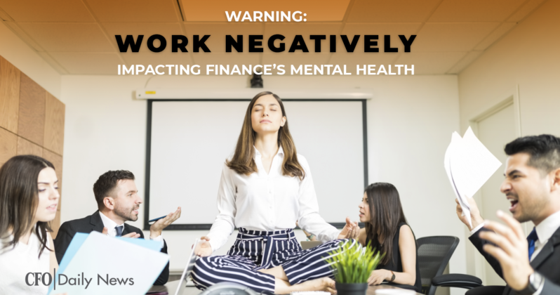 work negatively impacting mental health