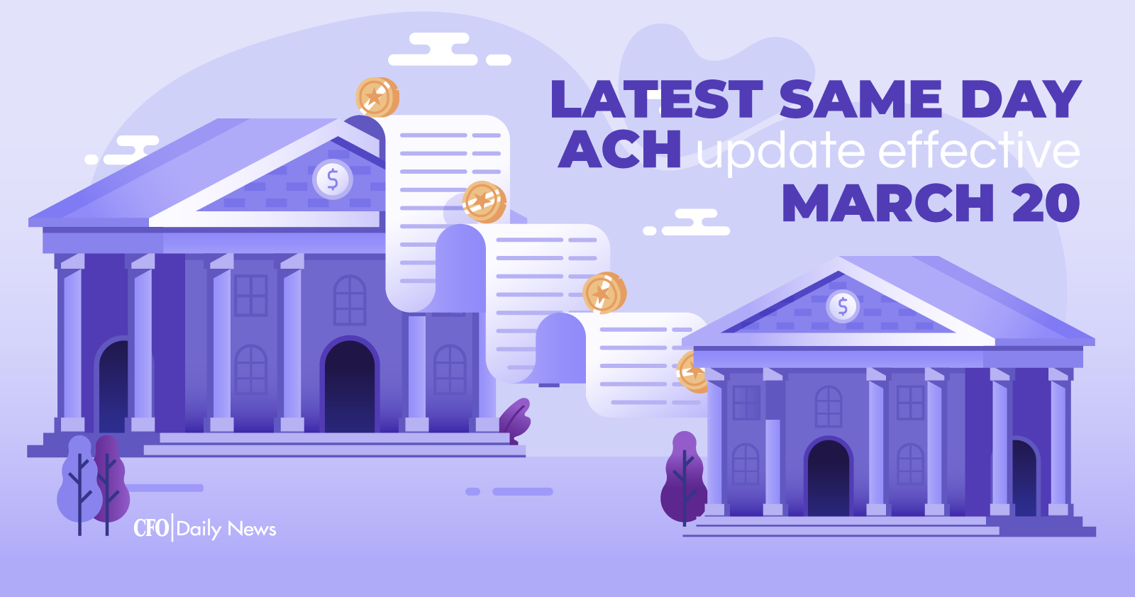 Latest Same Day ACH update effective March 20