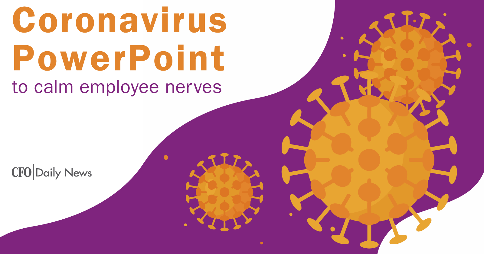 Coronavirus PowerPoint Calm Employee Nerves