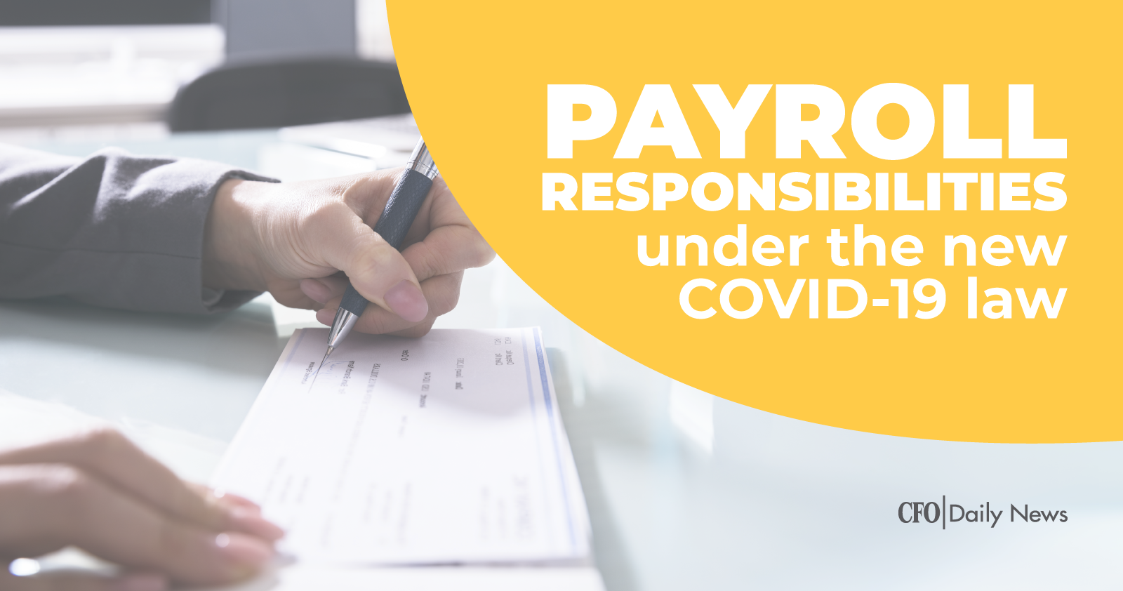Payroll responsibilities under the new COVID-19 law