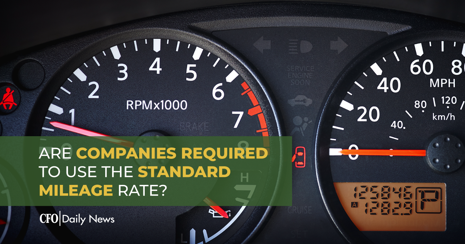 are companies required to use the standard mileage rate