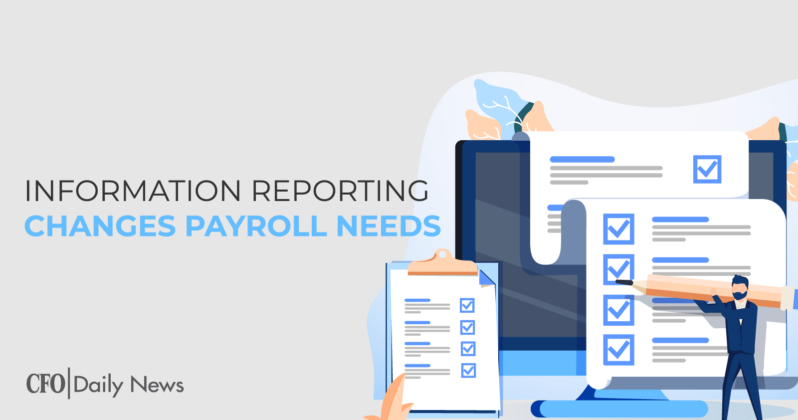 information reporting changes payroll needs
