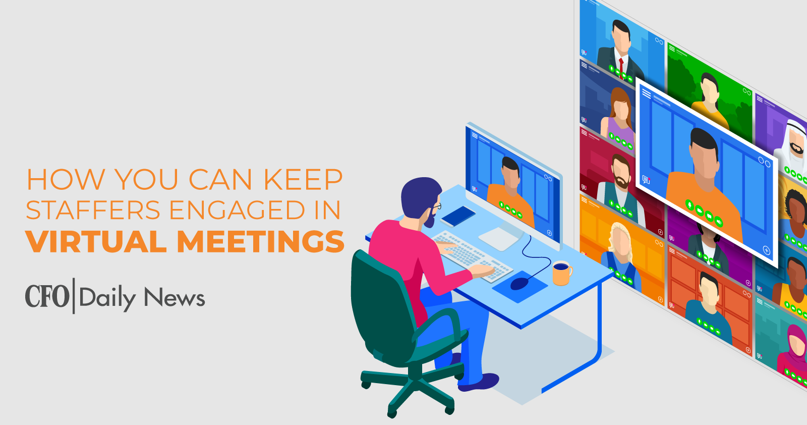 how you can keep staffers engaged in virtual meetings
