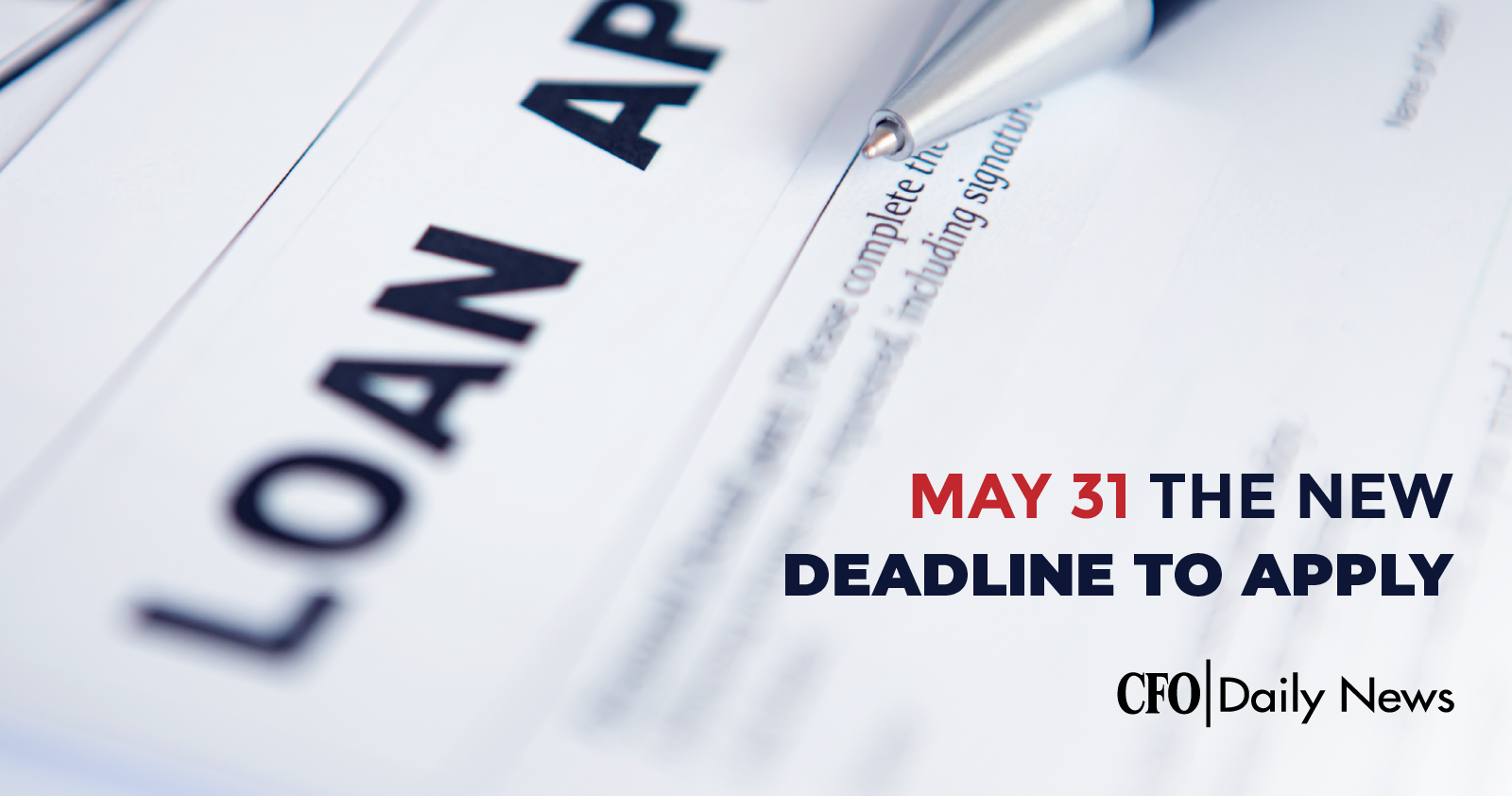 may 31 the new deadline to apply