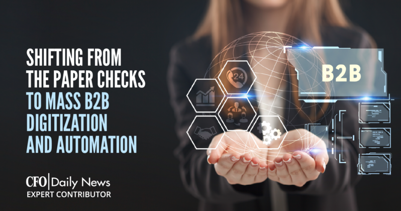shifting from the paper checks to mass B2B digitization and automation