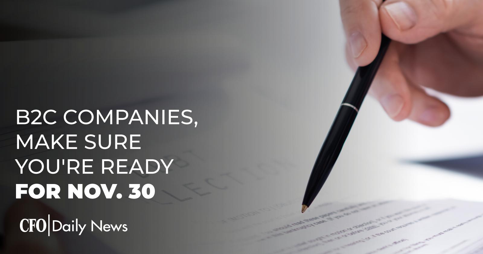 B2C Companies Make Sure You're Ready For Nov. 30