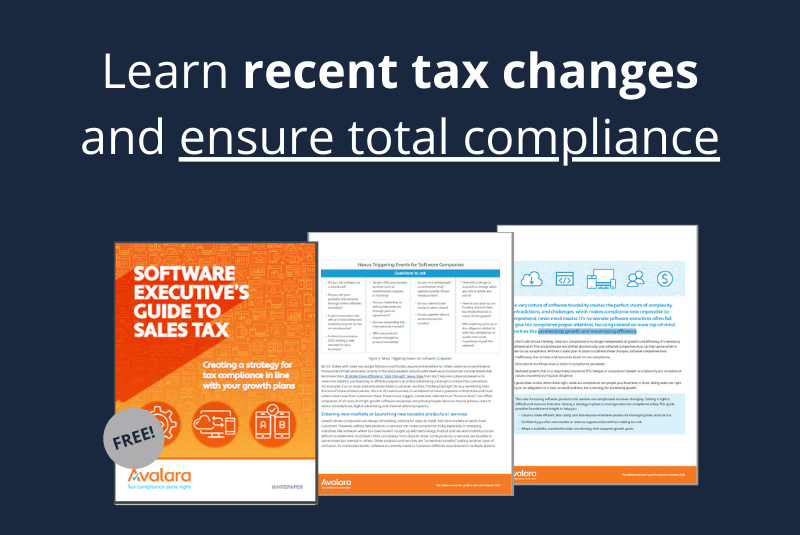 Software Executive's Guide to Sales Tax