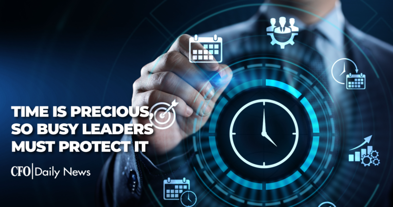 time is precious so busy leaders must protect it