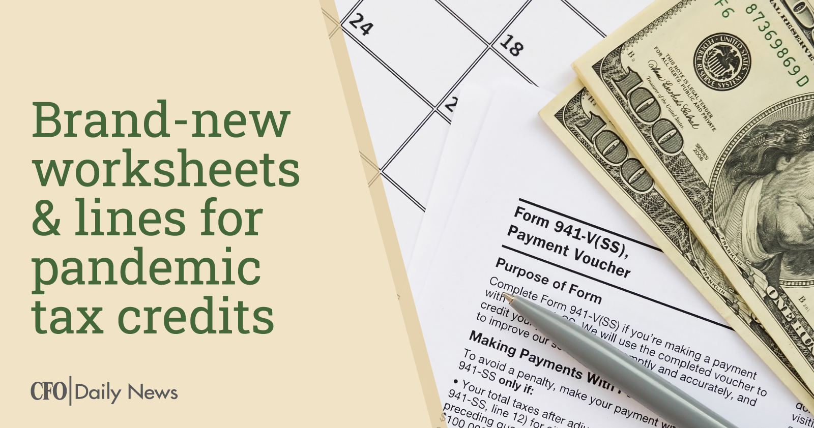 brand new worksheets and lines for pandemic tax credits