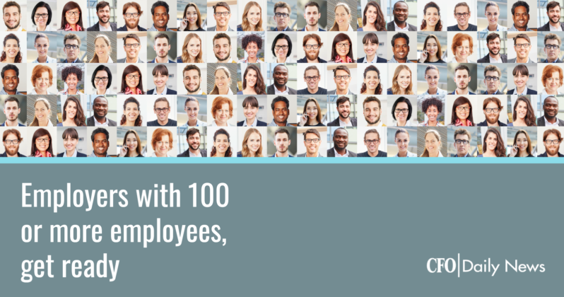 employers with 100 or more employees get ready