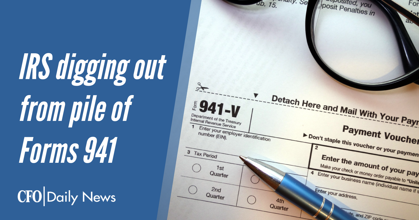 irs digging out from pile of forms 941